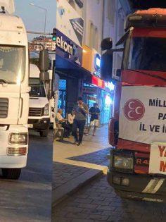 DENİZLİ MHP'DEN MANAVGAT'A YARDIM KONVOYU